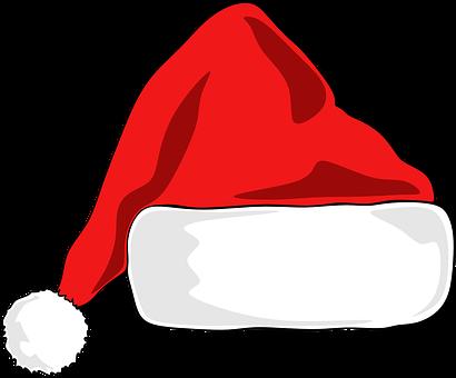 Santa Hat Christmas Hat Santa Santa Hat Drawing Christmas Hat Illustration Santa Hat