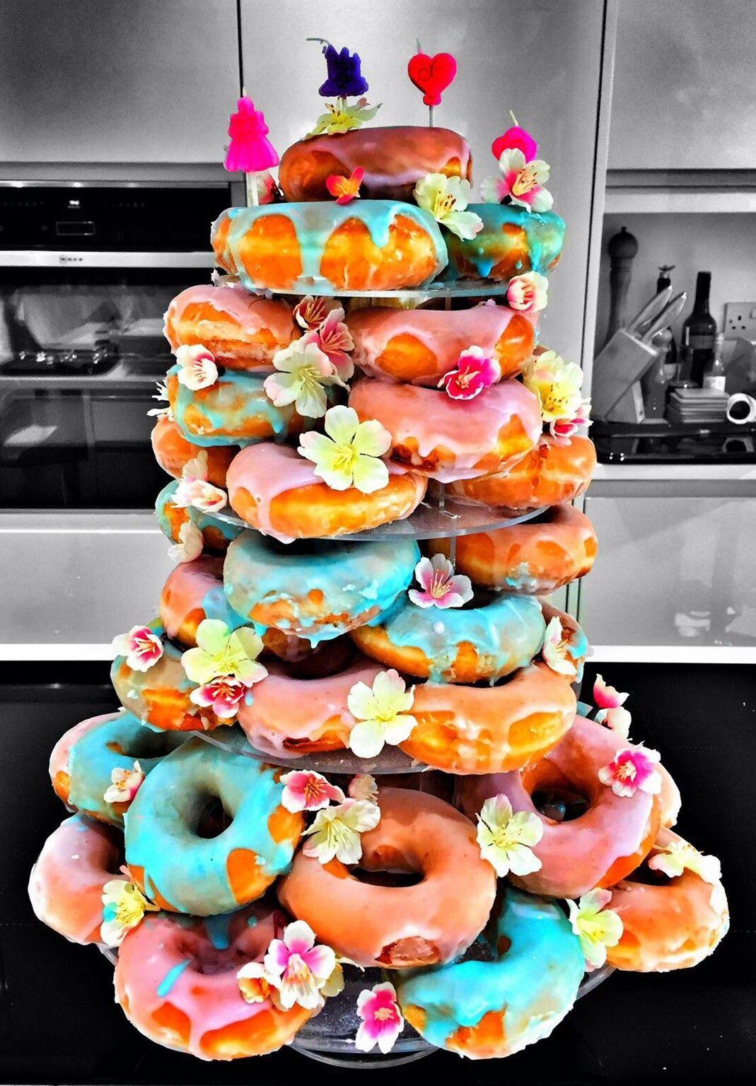 Donut tower uploaded to reddit by qyzyz festa pool