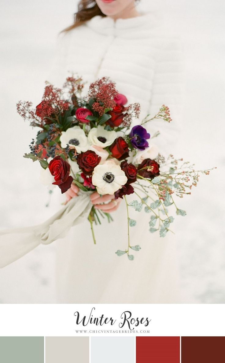 12 of the Loveliest Winter Wedding Color Palettes – Chic Vintage Brides