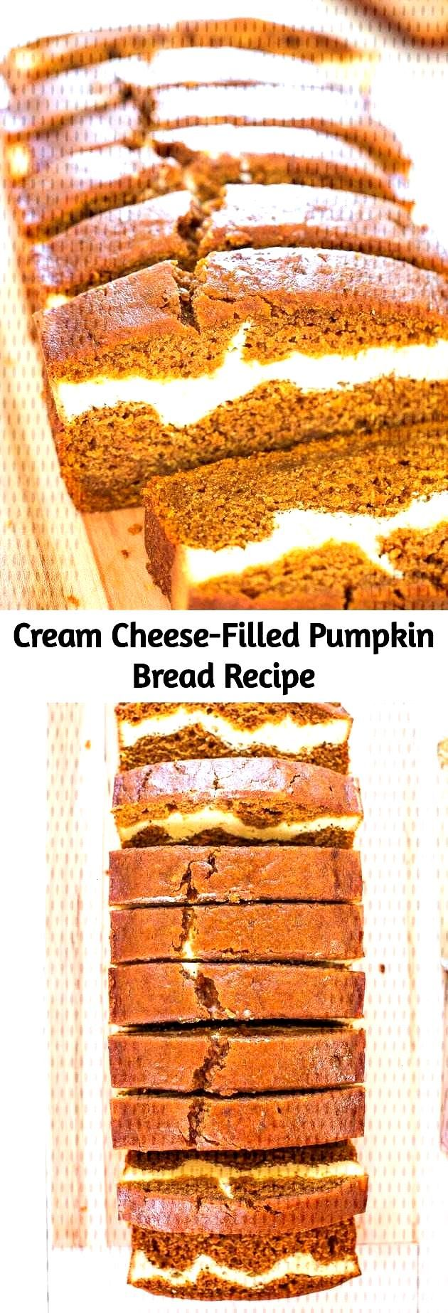 This is without a doubt the BEST pumpkin bread recipe! This pumpkin cream cheese... - Bread -