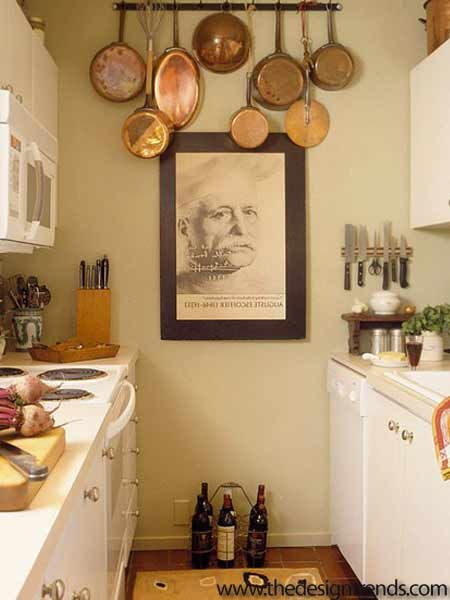 This web linked article is all about small kitchen design ideas ...