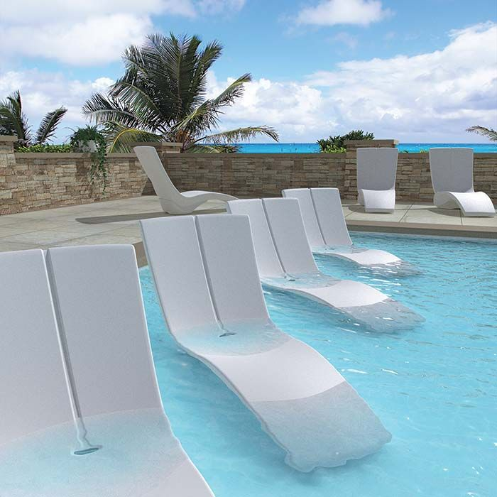 Patio curve chaise lounge | Pool | Pool furniture, Outdoor ...