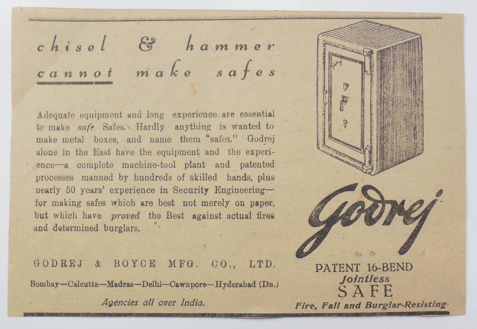 http://www.ebay.com/itm/Vintage-1944-Ad-Print-Godrej-Chisel-Hammer ...