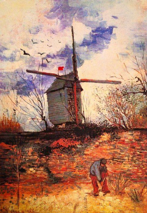 Vincent van Gogh - 'Le Moulin de la Galette' - Paris, Autumn 1886. Oil on canvas. FYI, Another Artist: http://universalthroughput.imobileappsys.com/ The Gallery Of An Acrylic Creationist here: http://universalthroughput.imobileappsys.com/site2/gallery.php
