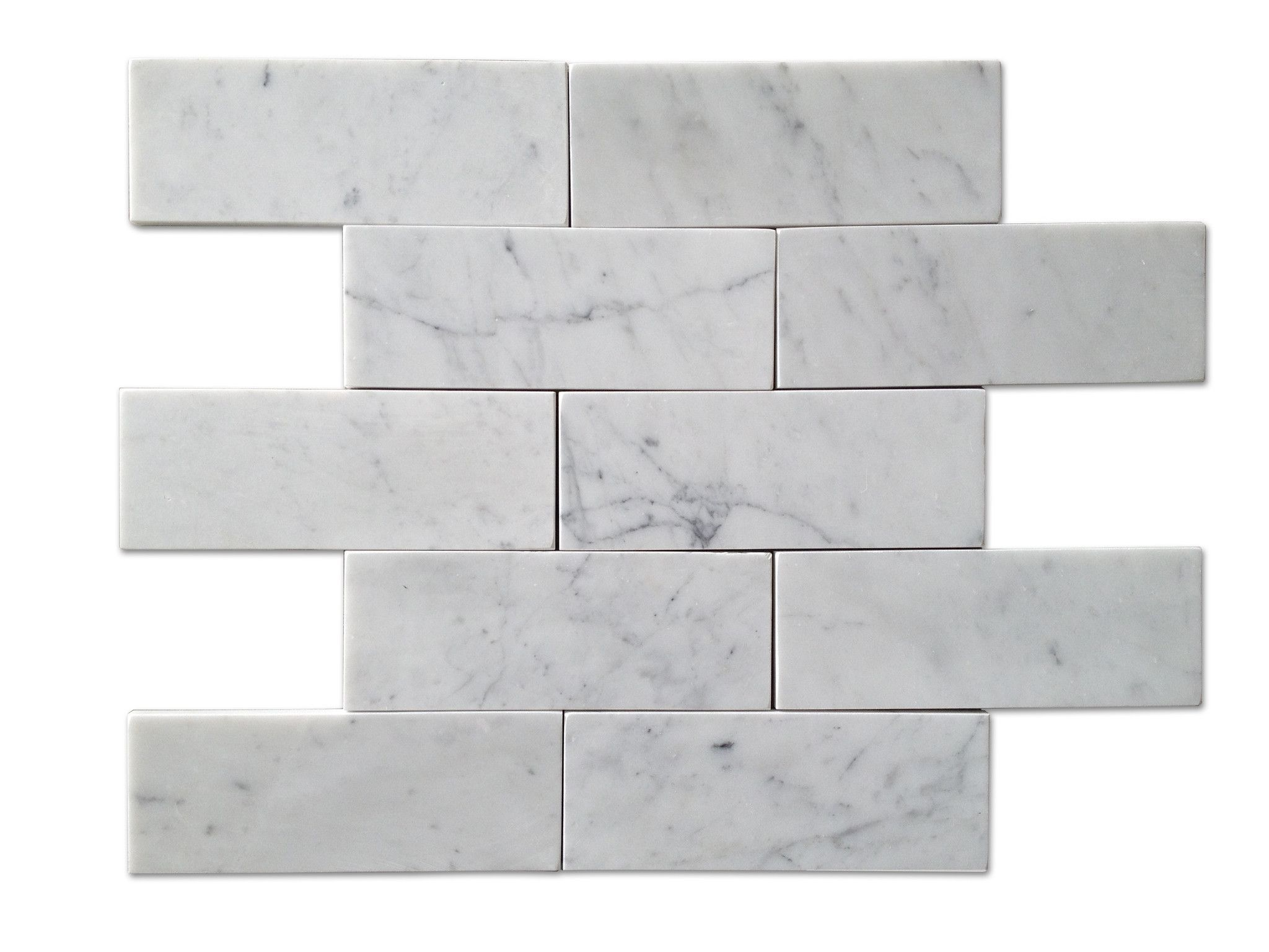 3x6 Subway Tile Honed Carrara Carrera Marble Tiles Brick Tiles Carrara