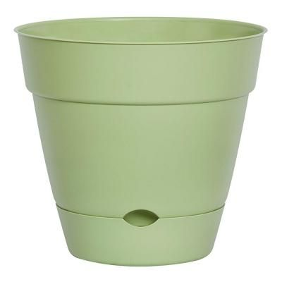Dynamic Design Newbury 12 In X Lotus Green Self Watering Poly Planter Ns1208lo The Home Depot