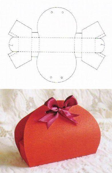 10 Beautiful DIY Patterns of Candy Gift Box | www.FabArtDIY.com LIKE ...