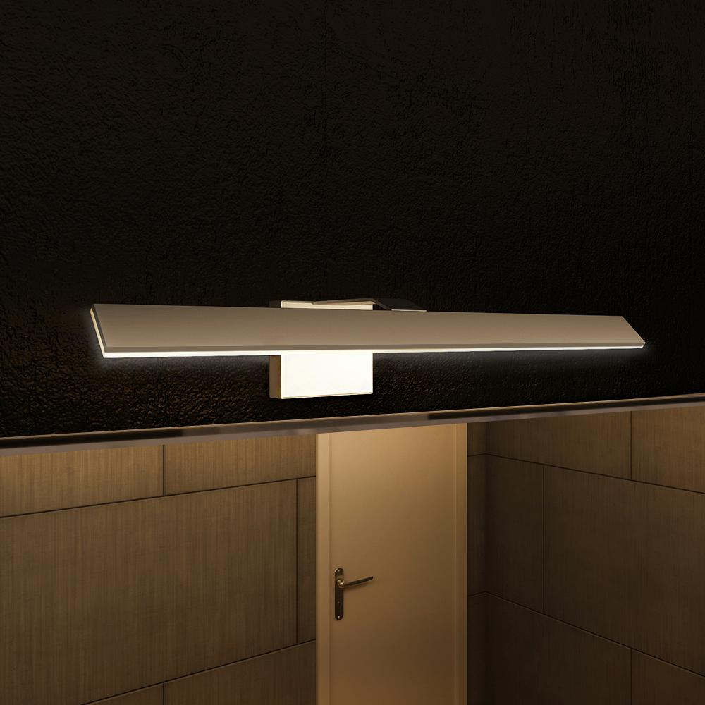 Vonn Lighting Wezen Collection 21 In Silver Nickel Low Profile Modern Led Vanity Bath Bar Light