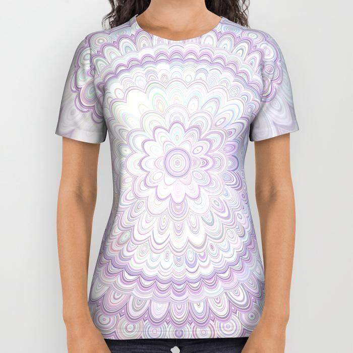 5949d015a32c White Flower Mandala All Over Print Shirt #white #mandalas #tshirt  #designtshirt #fashion #boho #yoga #DavidZydd #flowers #floralmandala  #abstractart