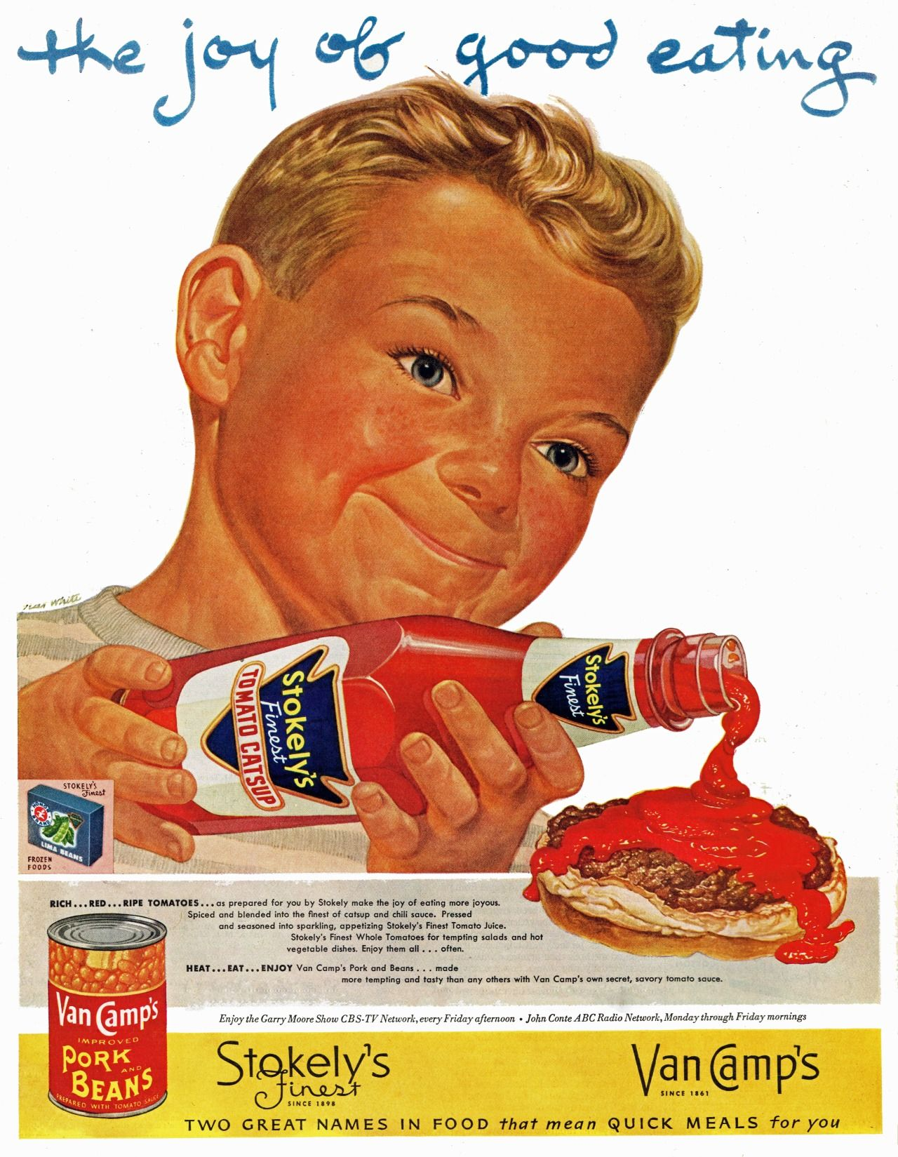 000 Stokely's Finest and Van Camp's, 1952 Retro ads, Vintage