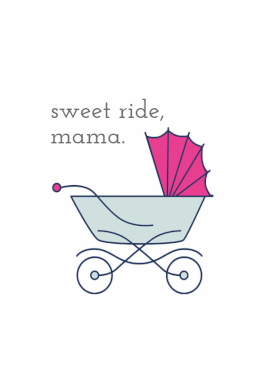 Sweet Ride Mama Baby Shower New Baby Card Greetings Island New Baby Cards Baby Cards New Baby Products