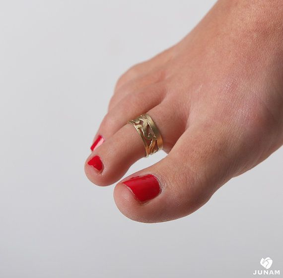 Bague d'orteil or 9 carats bague d'orteil par JunamJewelry sur Etsy