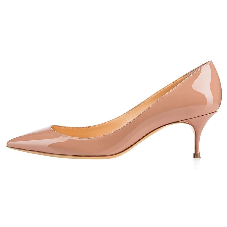 June in Love Womens Kitten Heels Short Slim Heel Shoes