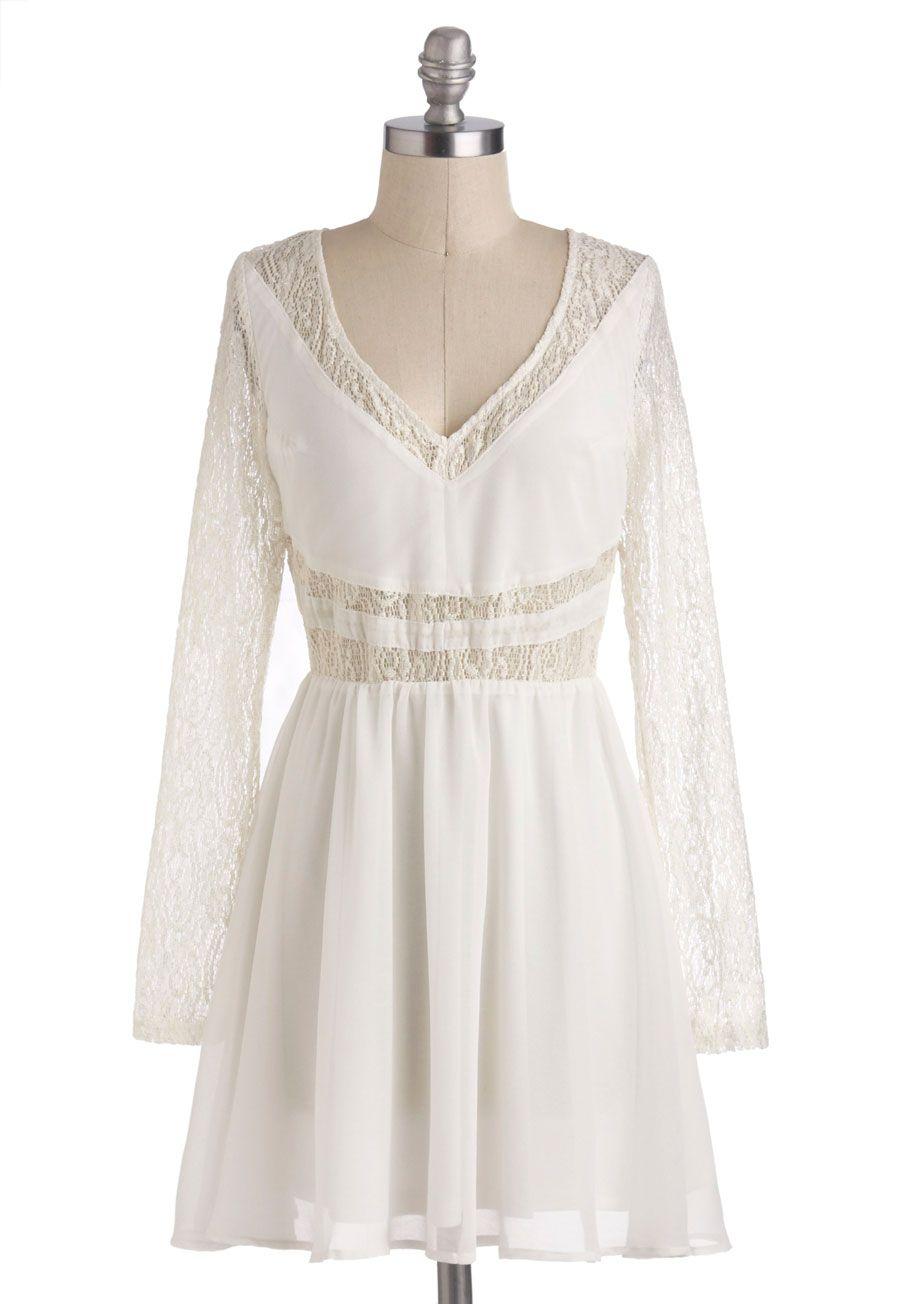 White Winged Love Dress White Lace Chiffon Dress Mod Cloth Dresses Whimsical Dress [ 1304 x 913 Pixel ]