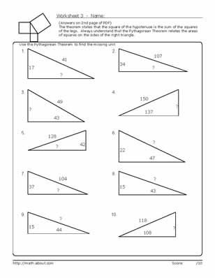 Master the Pythagorean Theorem With These Geometry Worksheets ...