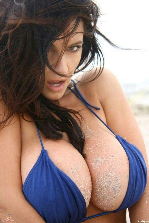 Denise milani in blue bikini
