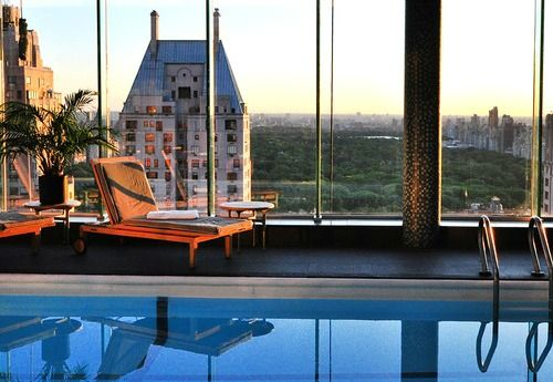 le parker meridien hotel pool nyc new york ny nyc. Black Bedroom Furniture Sets. Home Design Ideas