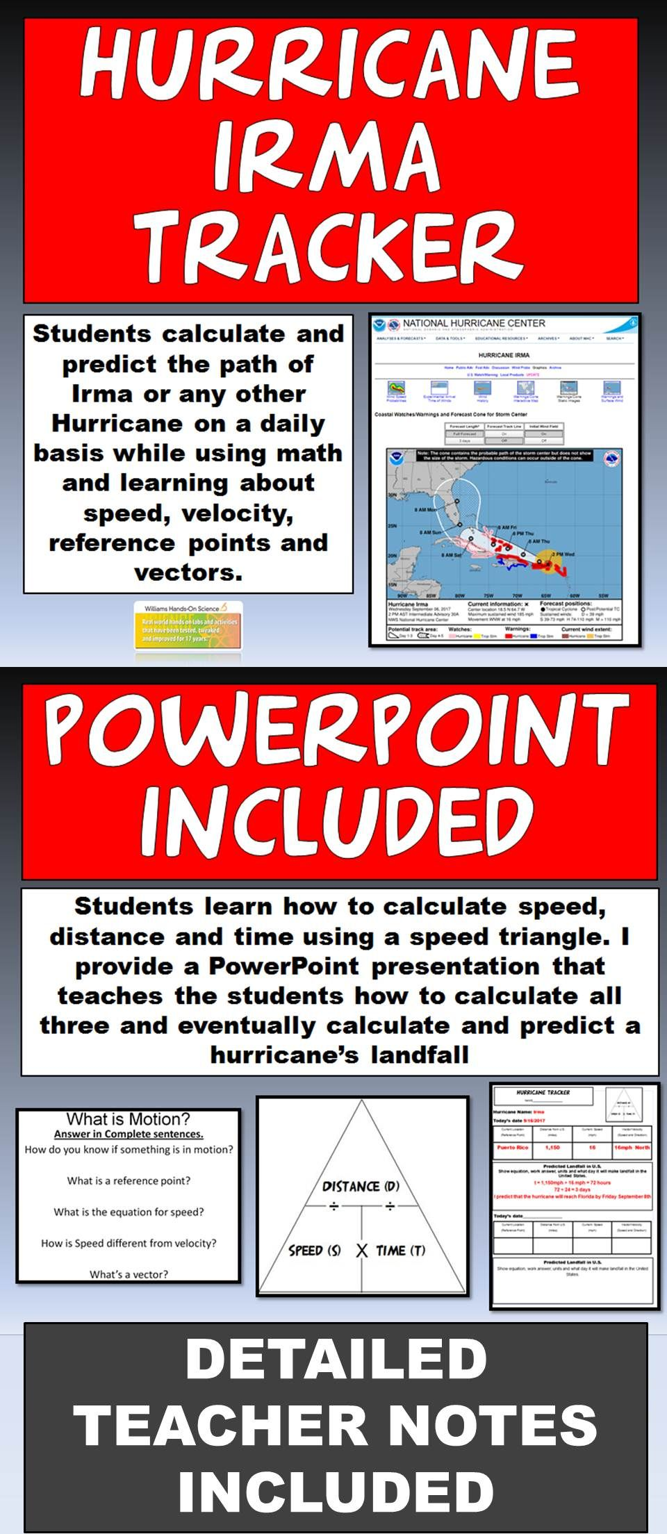 Hurricane Irma Tracker And Powerpoint Teacher Help Science Powerpoint Tpt Lessons