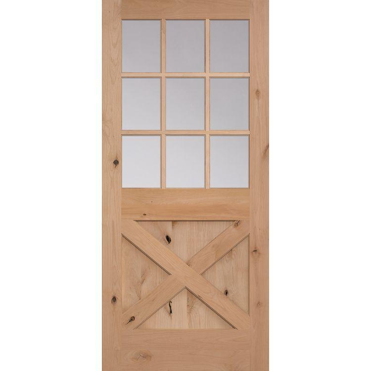 9 lite interior door on 9 Lite Over Crossbuck 2035 Artisan Wood Doors Masonite Doors Interior Wood Doors Masonite