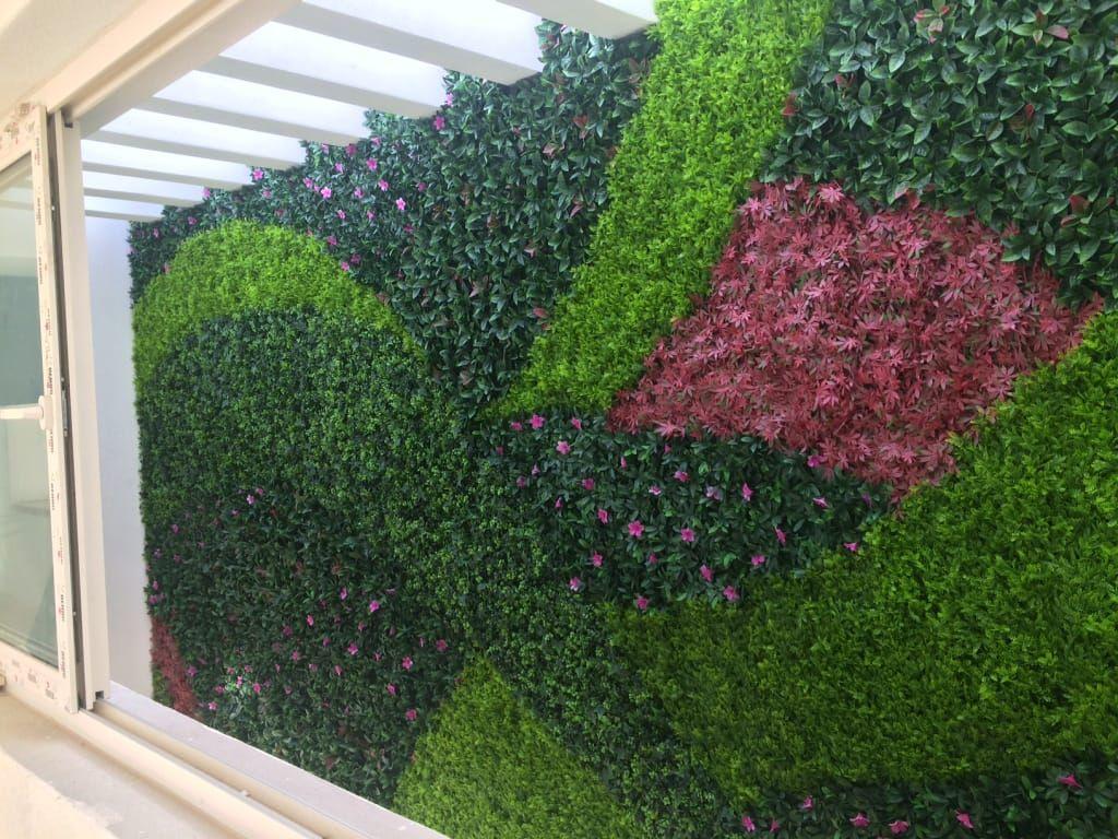 Muro verde de estilo por arquitectura org nica viviana font for Muro de separacion jardin