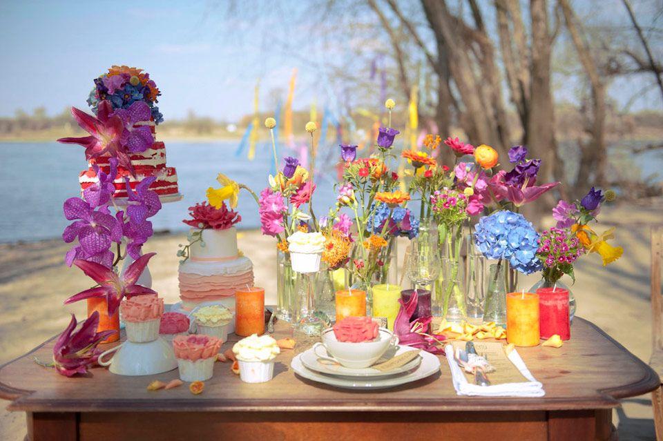 Knallig Bunte Hochzeitsinspiration von Tali Fotografie