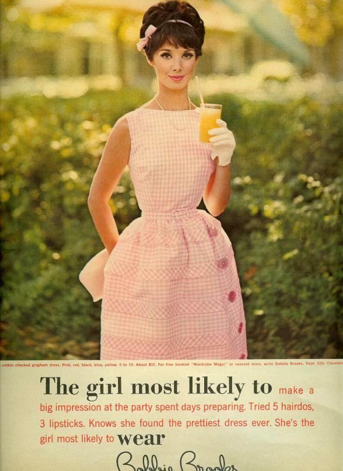 Vintage Girls Puffed Shoulder Dresses