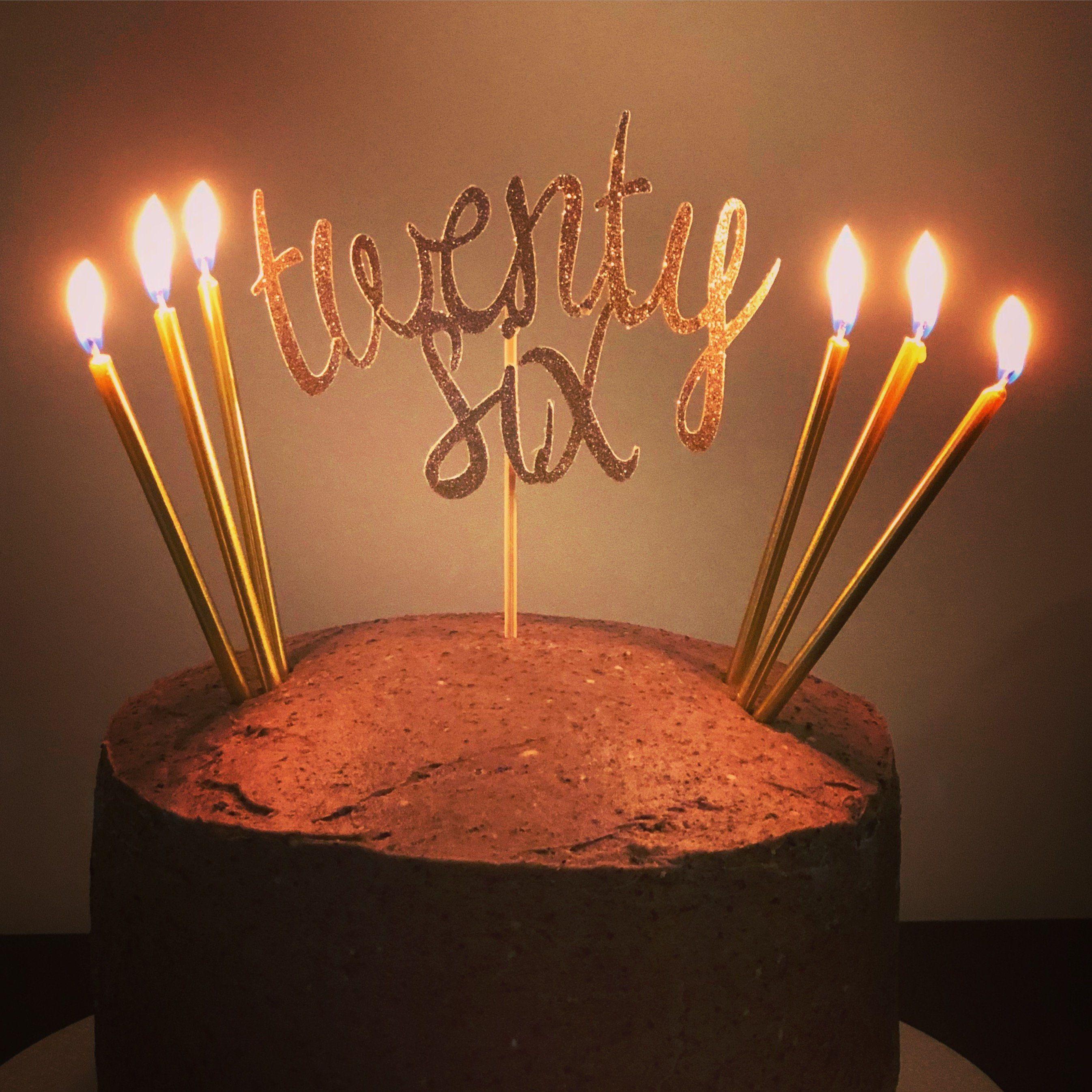 Twenty Six Cake Topper Custom Year Cake Topper Happy 26th