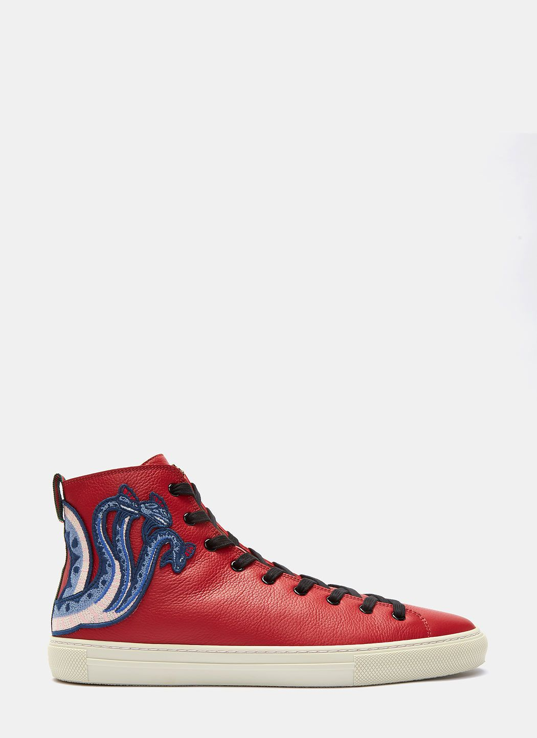 half off 2d64e 0f287 GUCCI Men S Dragon Embroidered High-Top Sneakers In Red.  gucci  shoes
