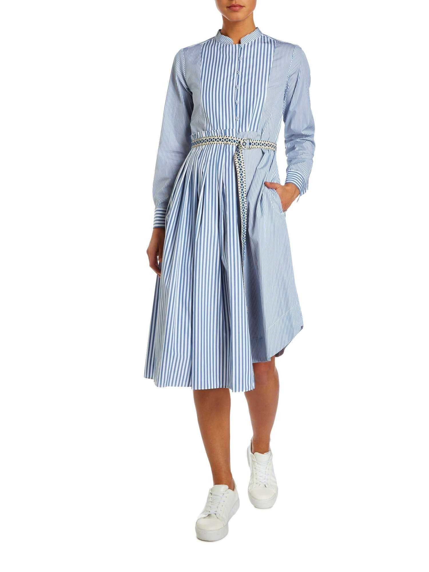 080cceb215 Max Mara Weekend Aerovia Stripe Assymetric Shirt Dress - House of Fraser