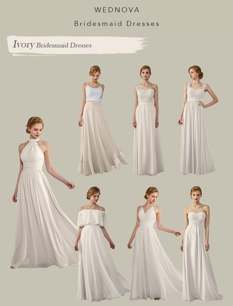Simple halter bridesmaid dresses chiffon one shoulder dress with