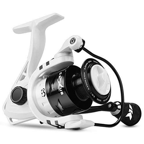Kastking Crixus Spinning Fishing Reel 17 5 Lbs Drag Superpolymer Grips Aluminum Spool