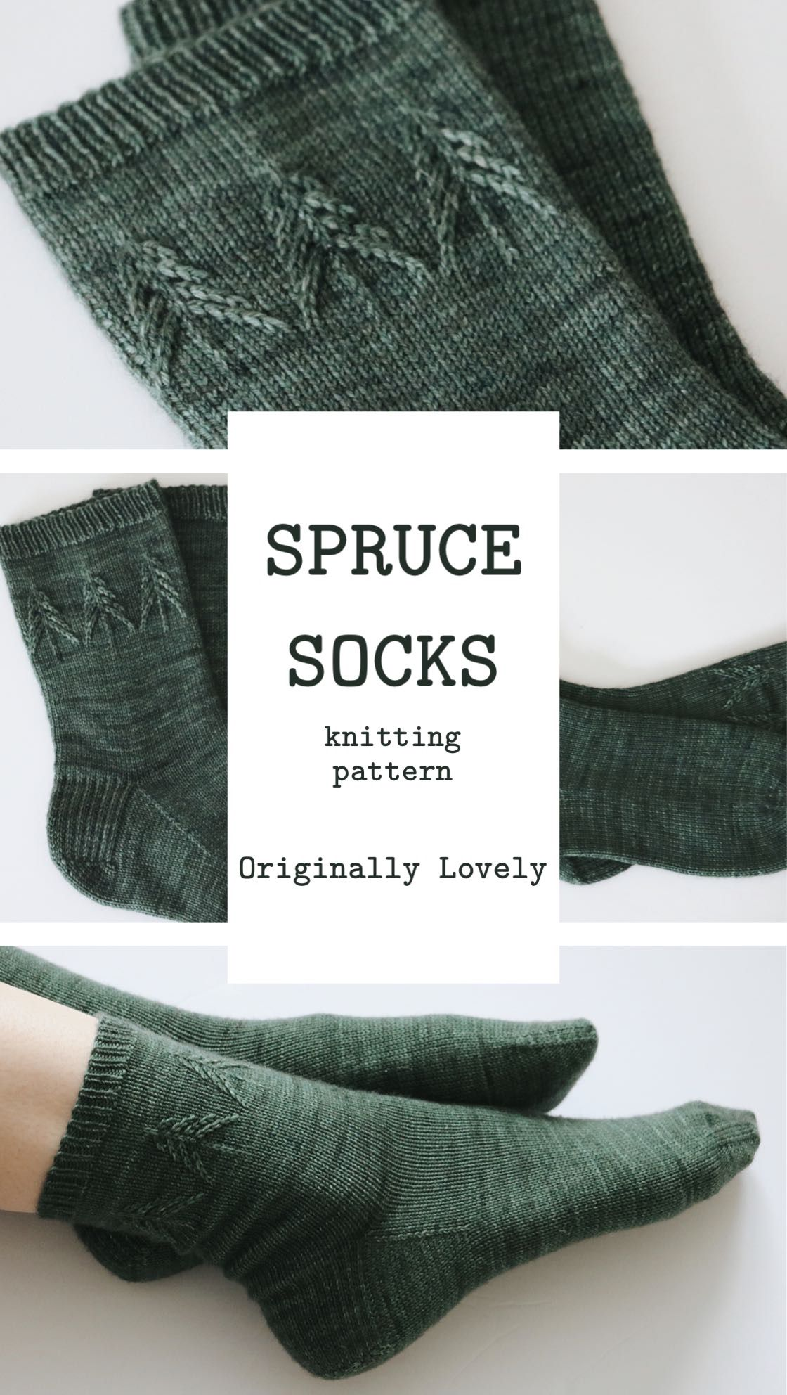 Spruce Socks Knitting Pattern | Originally Lovely #knittingideas