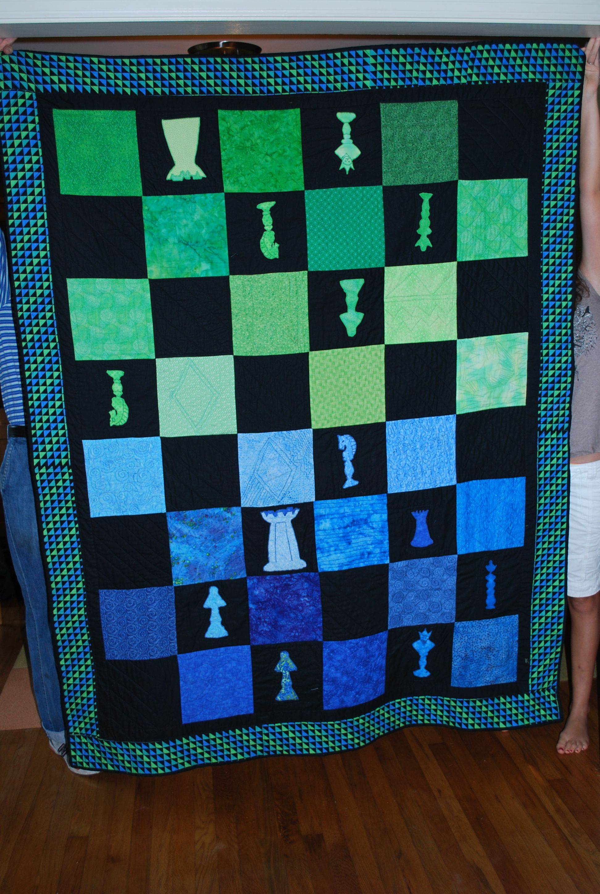 Chess Quilt by Linda Spitzer Quilt patterns, Quilts