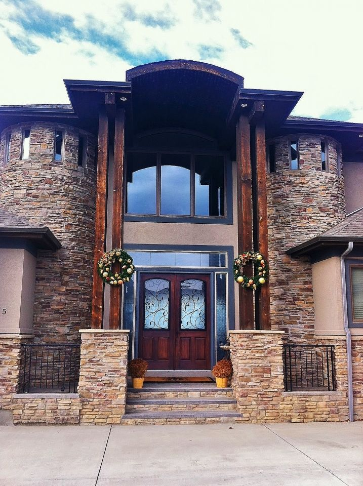 Tall two story arch entry way | House exterior, House ...