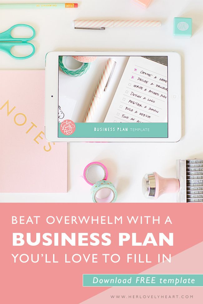 Click above to access your free business plan template blogging beat overwhelm with a business plan youll love to fill in download a free template accmission Image collections