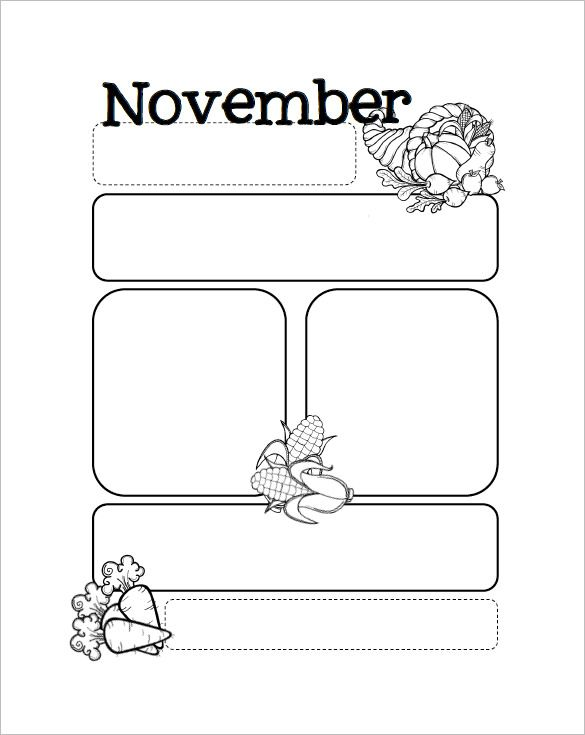13+ Printable Preschool Newsletter Templates u2013 Free Word, PDF - free school newsletter templates for word