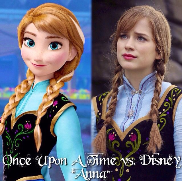 """Once Upon a Time vs. Disney """"Anna"""""""