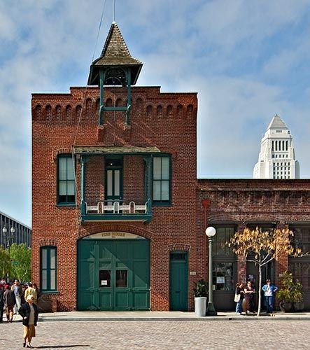 Old Plaza Firehouse At El Pueblo De Los Angeles Historic