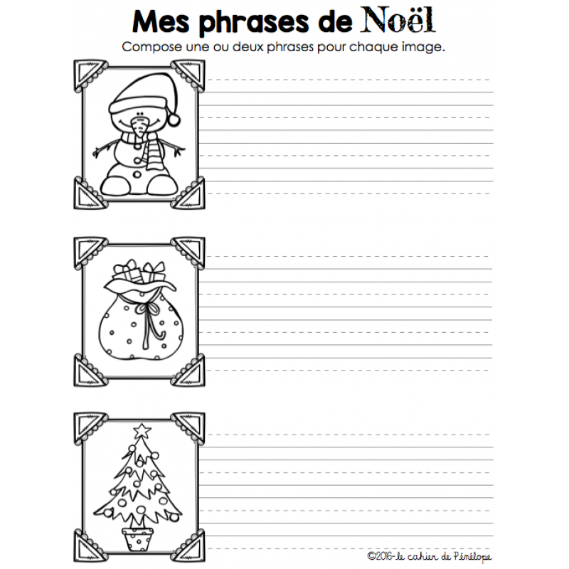Phrase De Noel, Production D écrit
