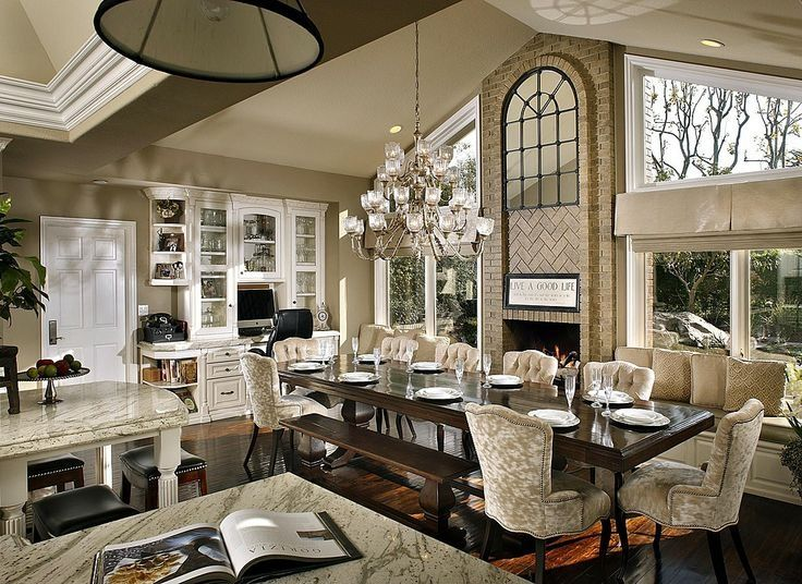 Traditional Great Room With Chandelier Built In Bookshelf 15