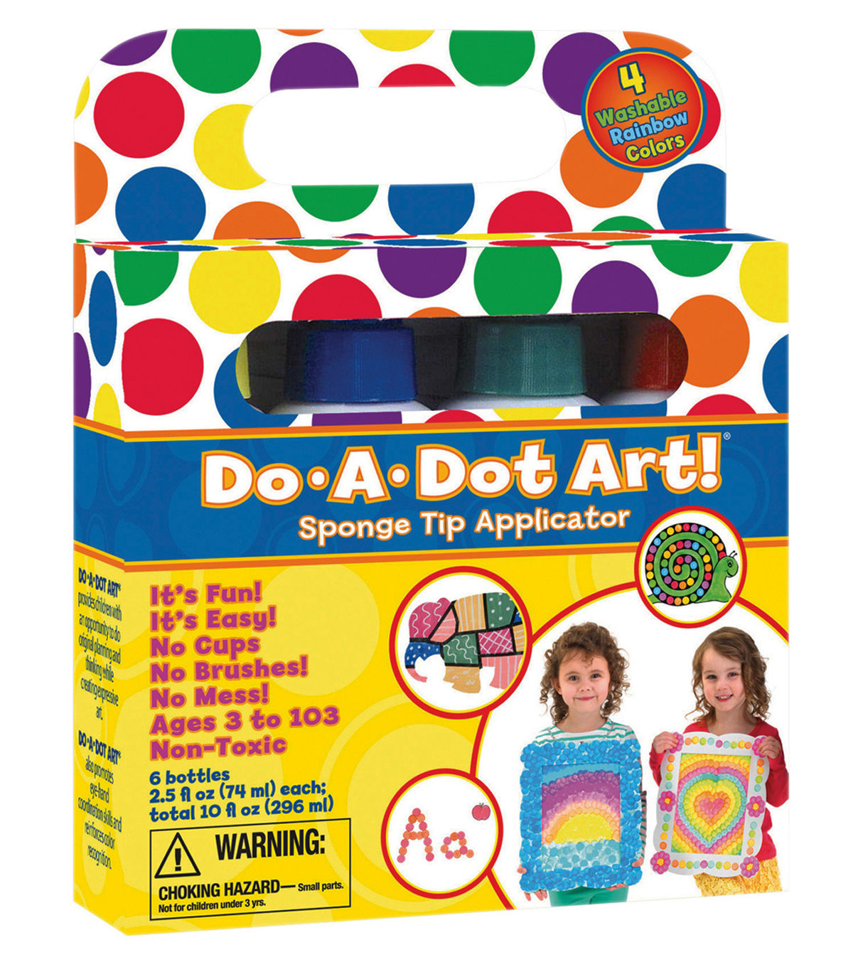 DoADot Art! 4 pk Washable MarkersRainbow Do a dot