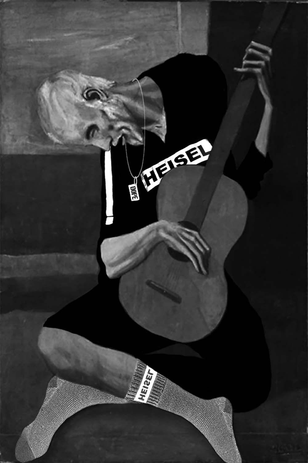 pablo picasso guitar player
