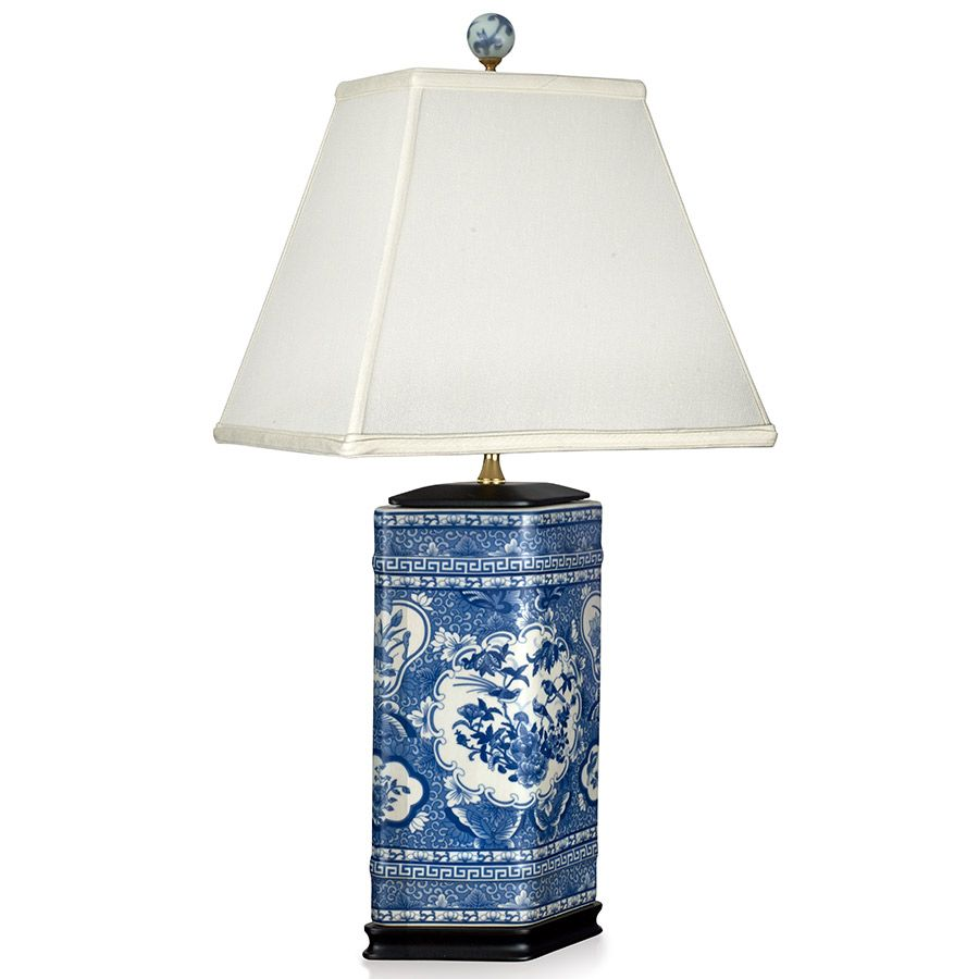 Blue And White Rose Canton Lamp Lamp Luxury Lamps Blue And White