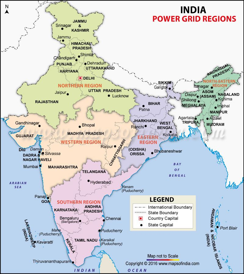 India power grid region map kartographie pinterest india map highlights the power grid regions of india with state and international boundaries northern western eastern southern and north eastern regions sciox Gallery