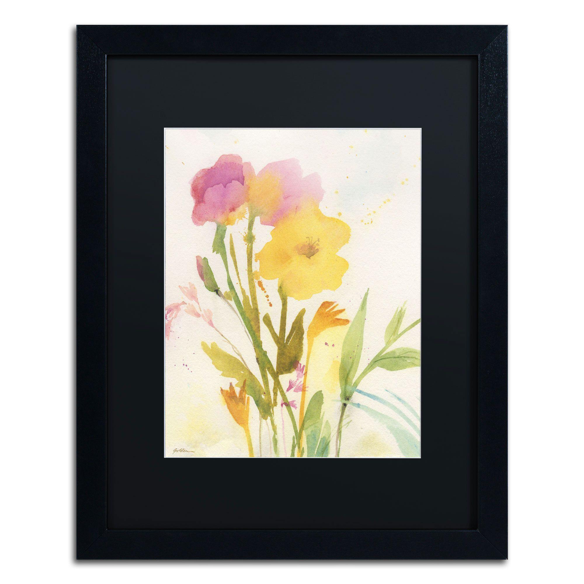 Wildflowers Against the Sky\' by Sheila Golden Framed Painting Print ...