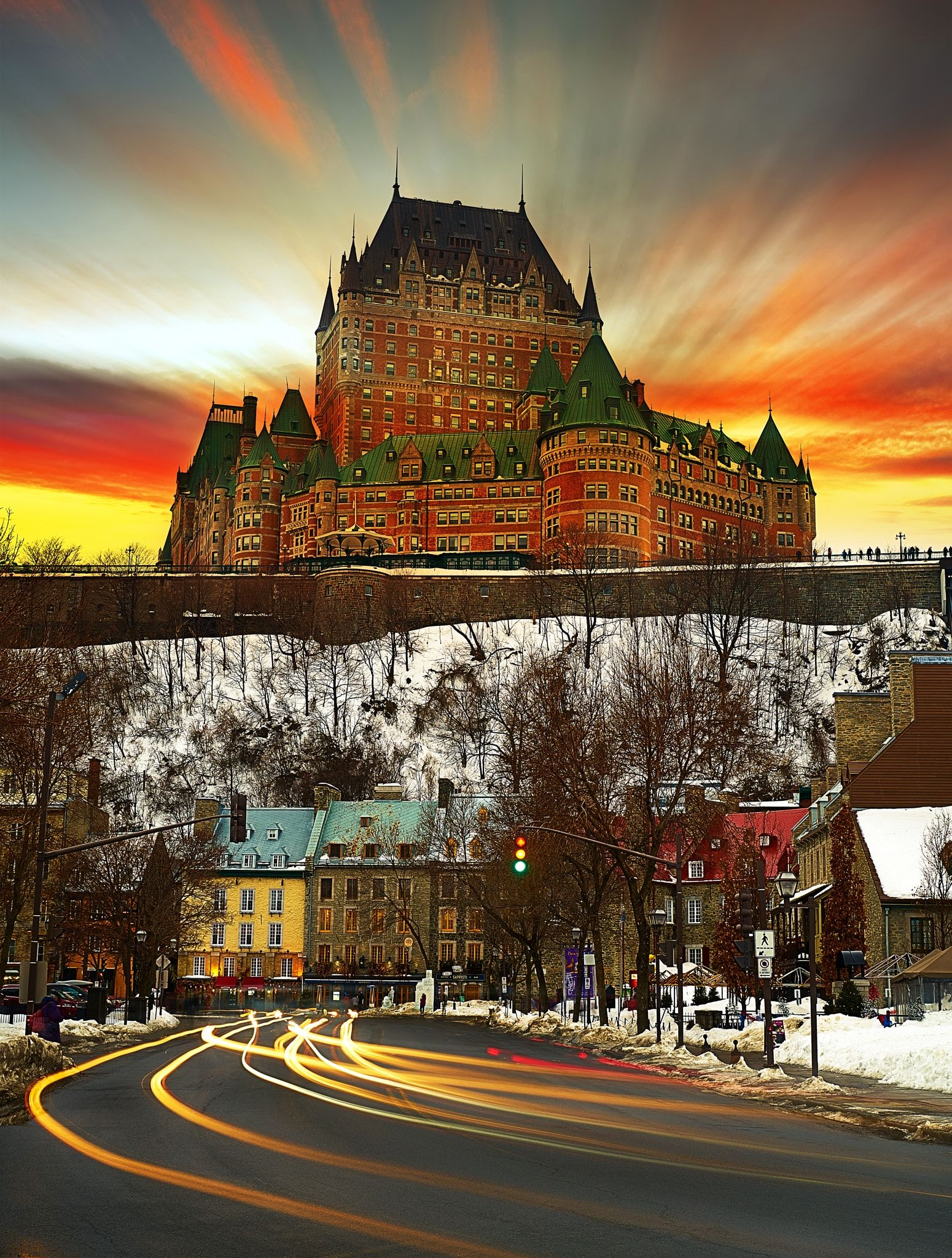 The Chateau Frontenac The Famous Fairmont Le Chateau Frontenac Hotel In Quebec City Canada Frontenac Quebec City Chateau