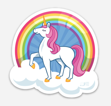 Rainbow Unicorn Sticker With Images Unicorn Stickers Rainbow