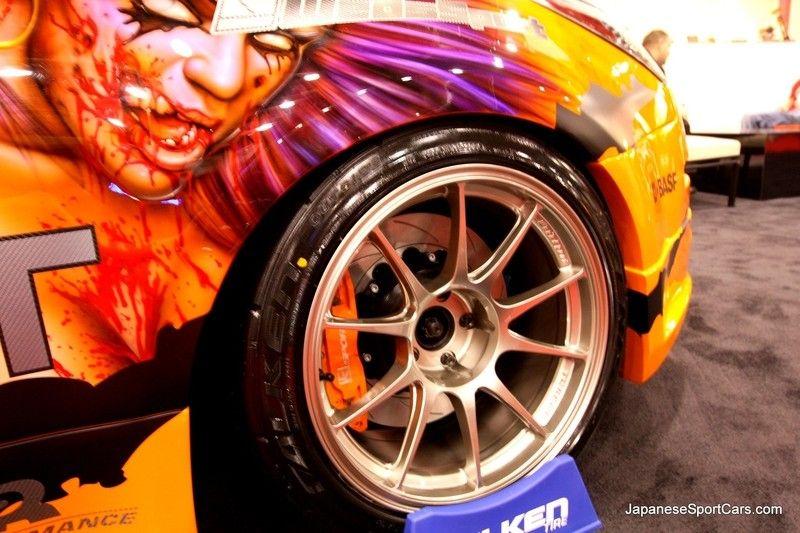 Tuned Nissan 350Z with WedsSport TC105N wheels