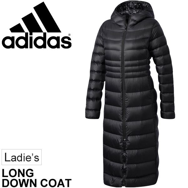APWORLD  Down coat Lady s Adidas adidas long coat bench coat woman outer  winter clothing black 30a1c6e02