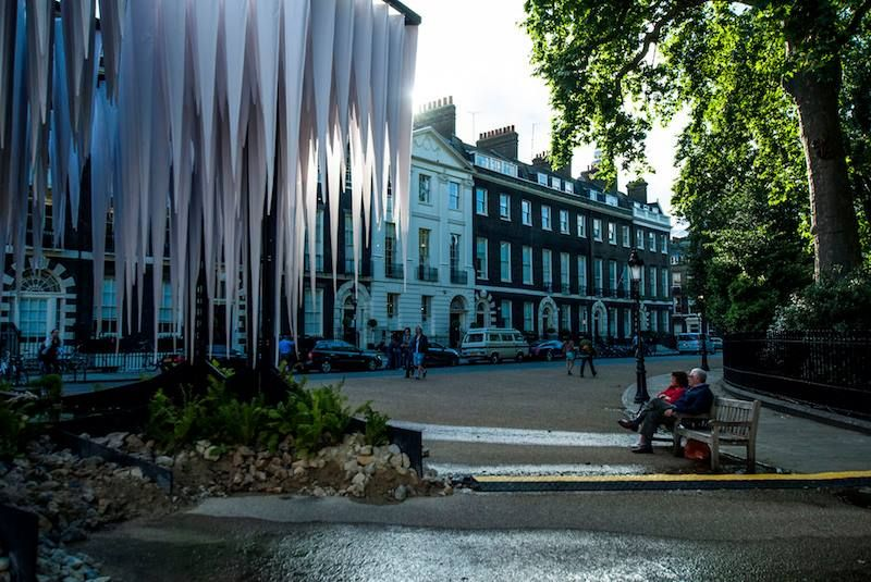 Rainforest architecture installation in Bedford Square, connected to London Architecture Week 2014. Photo by anna on Flickr http://LDN.in/MUie8E